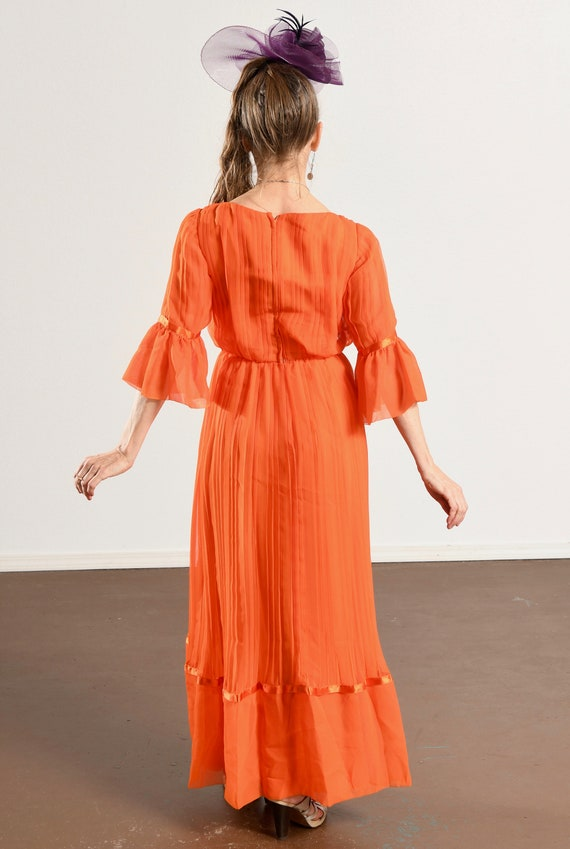 Carrie Couture/ Vintage Chiffon Prom Dress/ 70's … - image 5