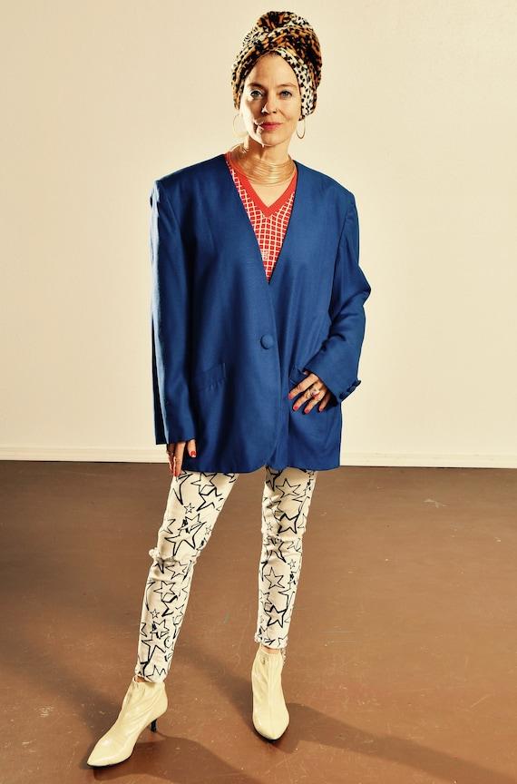 Dior Cobalt Blue Blazer/ 90's Dior Blazer/ Dior Wo