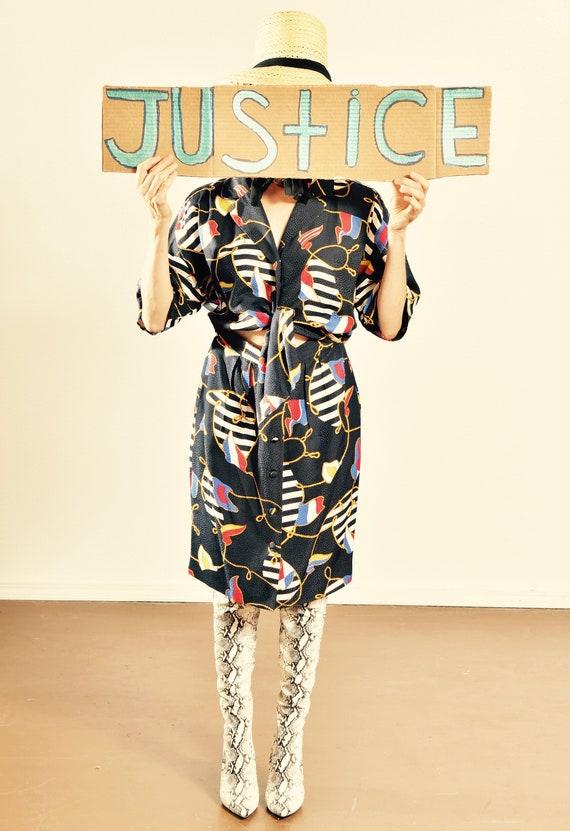Maggie London Silk Dress/ 80's Silk Dress/ 80's Ma