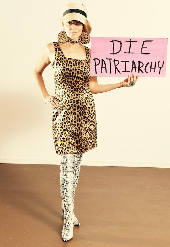 LA BELLE/ Vintage Leopard Print Dress/ Leopard Pri
