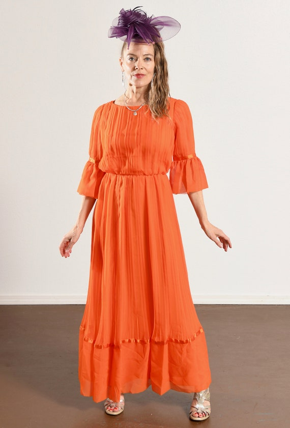Carrie Couture/ Vintage Chiffon Prom Dress/ 70's … - image 3