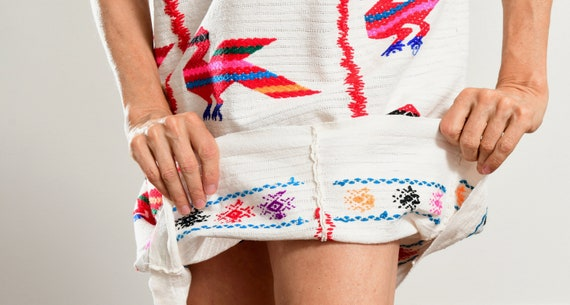 Mexican Embroidered Dress/ Mexican Embroidered Tu… - image 9