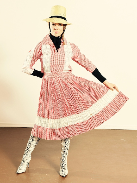 Country Western Two Piece Skirt Set/ Country Danci