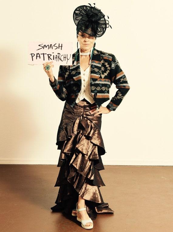 Ruffle Skirt/ Satin Ruffle Skirt/ Southwest Ruffle