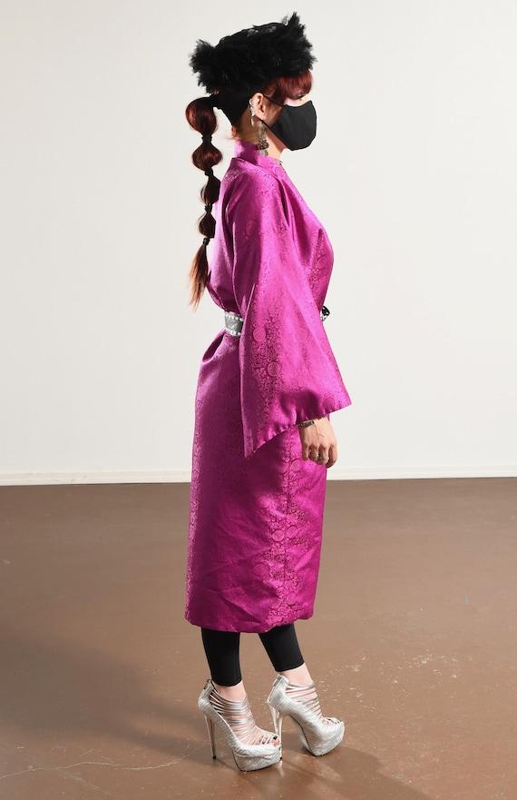 Vintage Kimono/ Fuchsia Kimono/ Pink Kimono Robe/… - image 5
