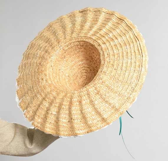 Wide Straw Brim Hat/ Edwardian Straw Hat/ Straw H… - image 10