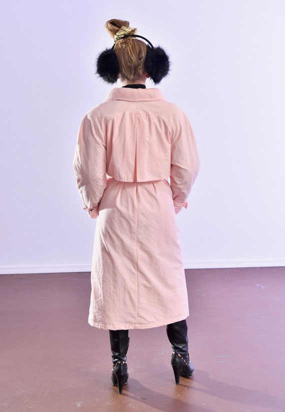 80's puffer coat/ Pink Puffer Coat/ Winter Trench… - image 4