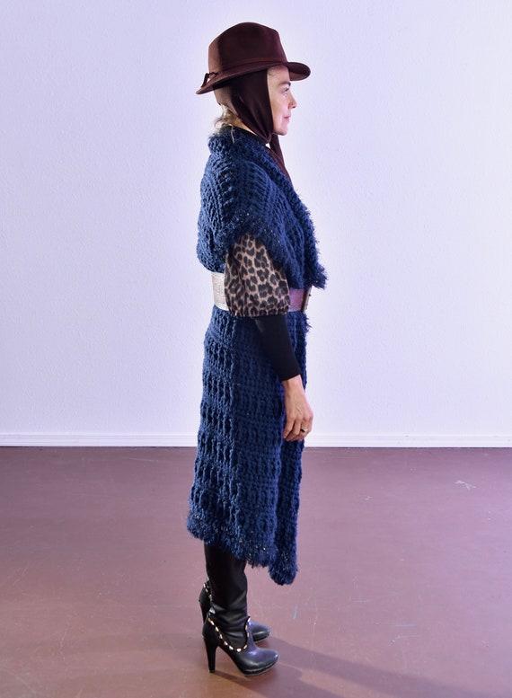 Vintage Sweater Vest/ Crotched Sweater Vest/ Silv… - image 3