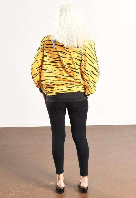 90's Animal Print Sweat-Zhirt/ Zebra Print Cardig… - image 5