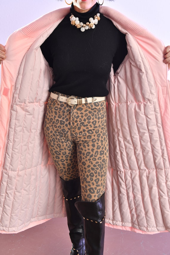 80's puffer coat/ Pink Puffer Coat/ Winter Trench… - image 8