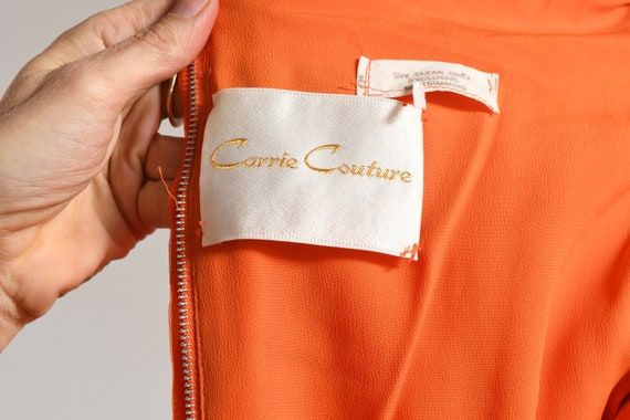 Carrie Couture/ Vintage Chiffon Prom Dress/ 70's … - image 10