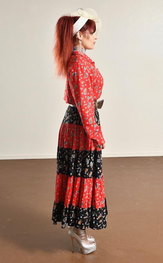 Country Western Two Piece Skirt Set/ Western Prai… - image 4