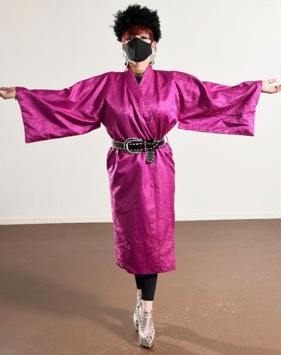 Vintage Kimono/ Fuchsia Kimono/ Pink Kimono Robe/… - image 4