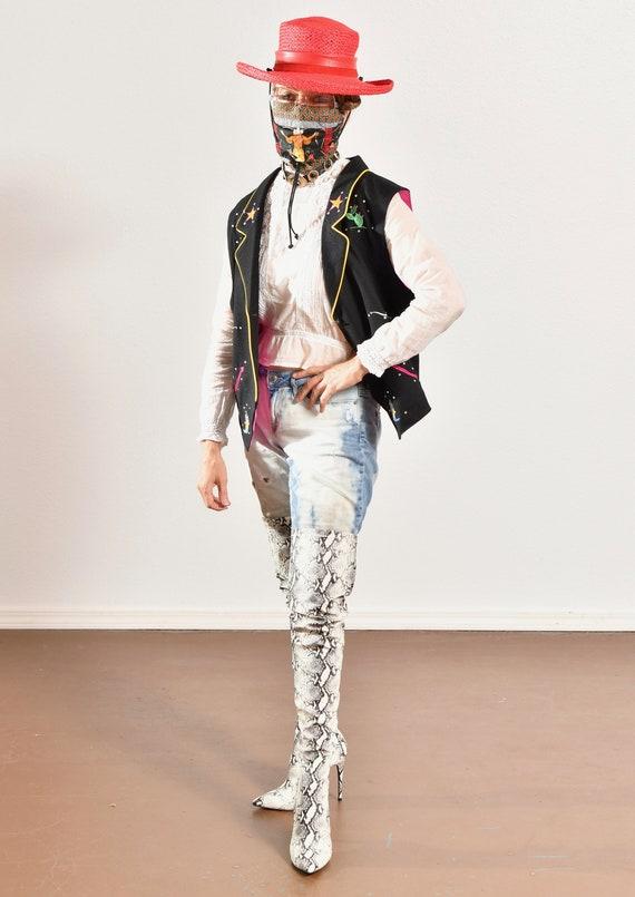 Gerard by Pege/ Wool Western Vest/ Wool Cowboy Ve… - image 5