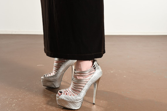 Carole Little/ Carole Little Dress/ 90's Velour D… - image 8