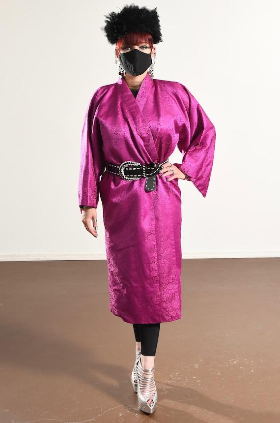 Vintage Kimono/ Fuchsia Kimono/ Pink Kimono Robe/… - image 2