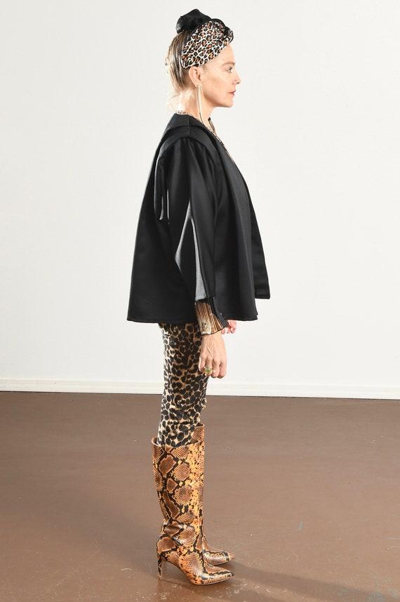 Black Kimono Blazer/ 80's Kimono/ 80's Kimono Jac… - image 4