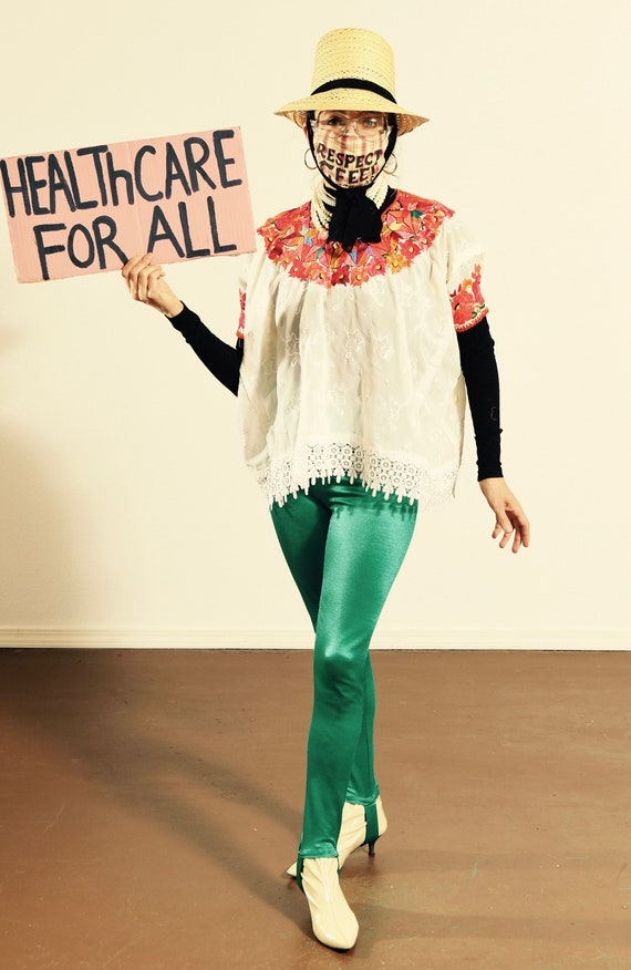 Mexican Embroidered Top/ Mexican Fringe Top/ Mexic