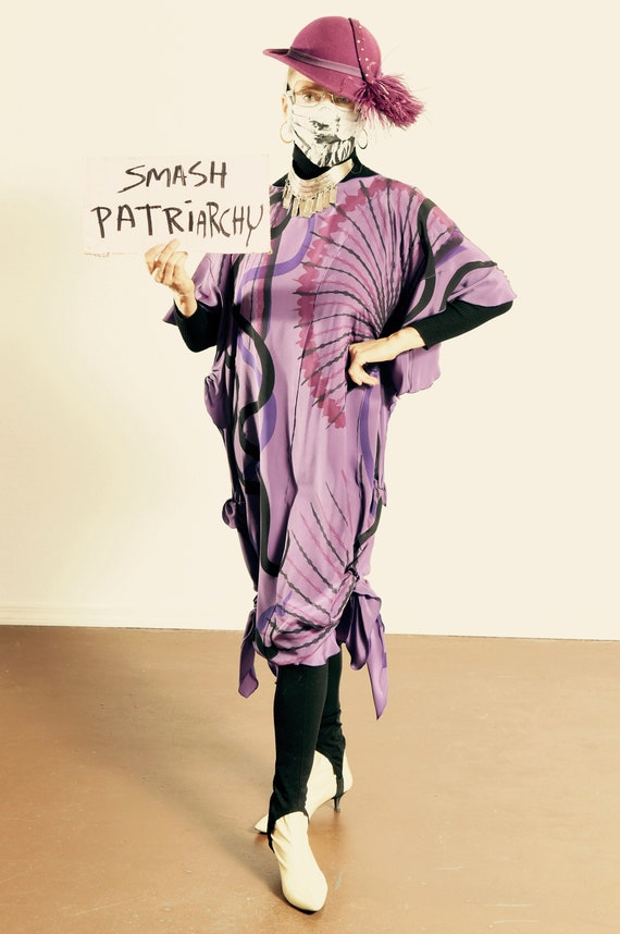 RESERVED for Lisa/ Silk Caftan/ Lavender Silk Caft