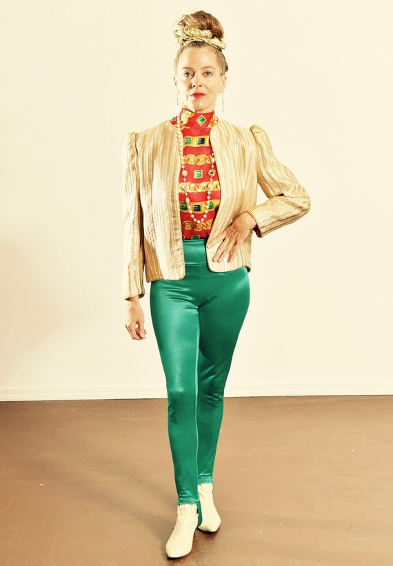 Albert Nipon/ Vintage Quilted Jacket/ 80's Quilted