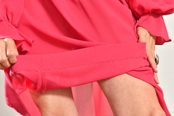 Ayers by E. Eysen/ Pink Chiffon Dress/ Chiffon Se… - image 9