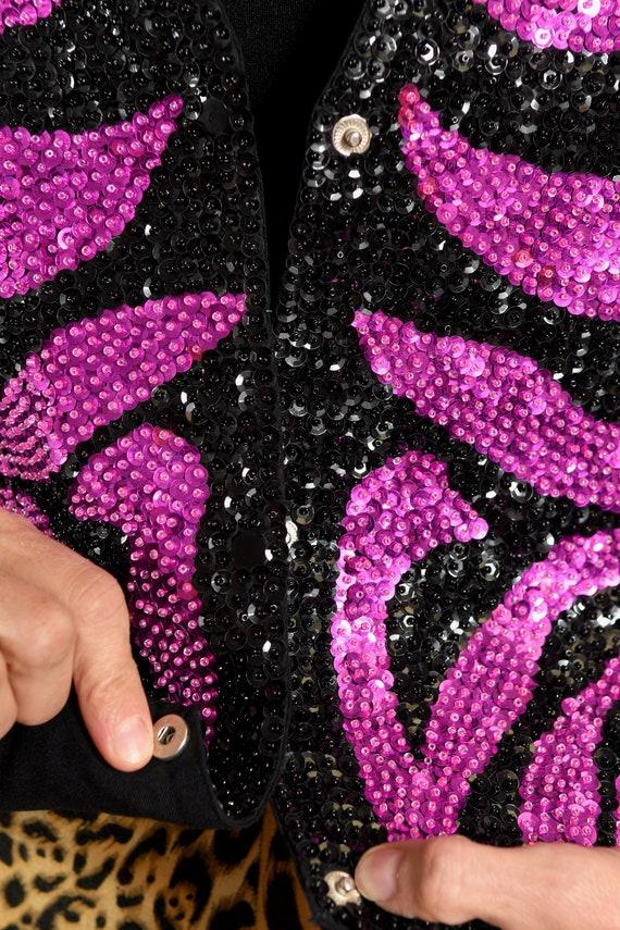 Zebra Print Vest/ Zebra Print Sequin/ Zebra Print… - image 8