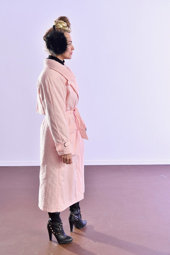 80's puffer coat/ Pink Puffer Coat/ Winter Trench… - image 5