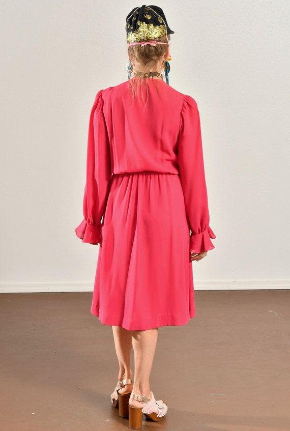 Ayers by E. Eysen/ Pink Chiffon Dress/ Chiffon Se… - image 4