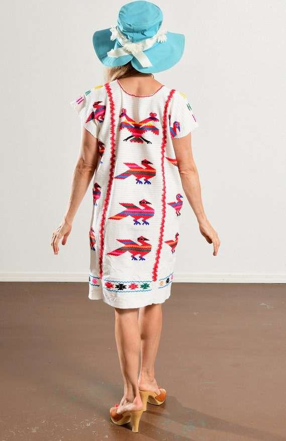 Mexican Embroidered Dress/ Mexican Embroidered Tu… - image 4