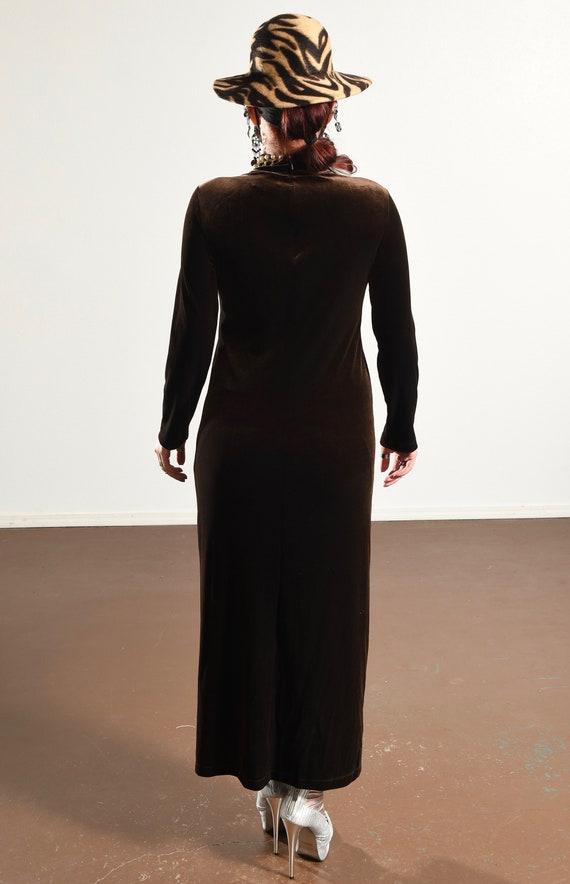 Carole Little/ Carole Little Dress/ 90's Velour D… - image 6