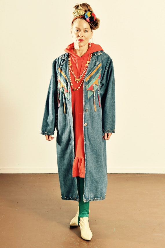 Pioneer Wear Denim Duster/ Southwest Denim Duster/