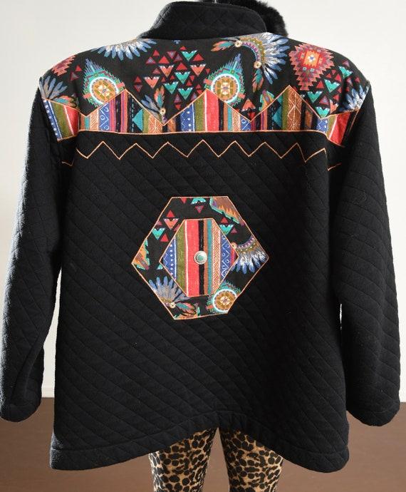 rafael Jacket/ Vintage quilted jacket/ Southwest … - image 8