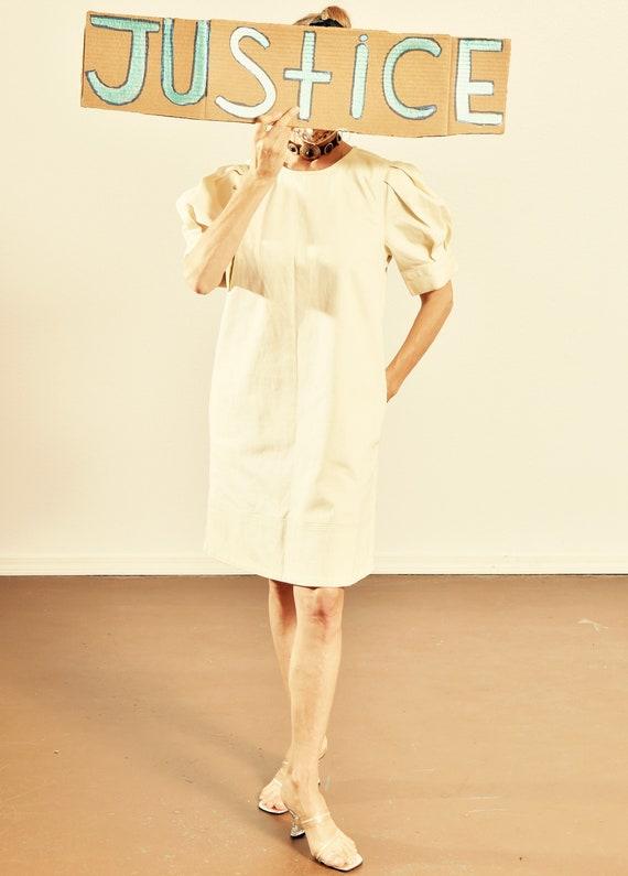 Who What Wear Dress/ Twiggy Denim Dress/ 60's Deni