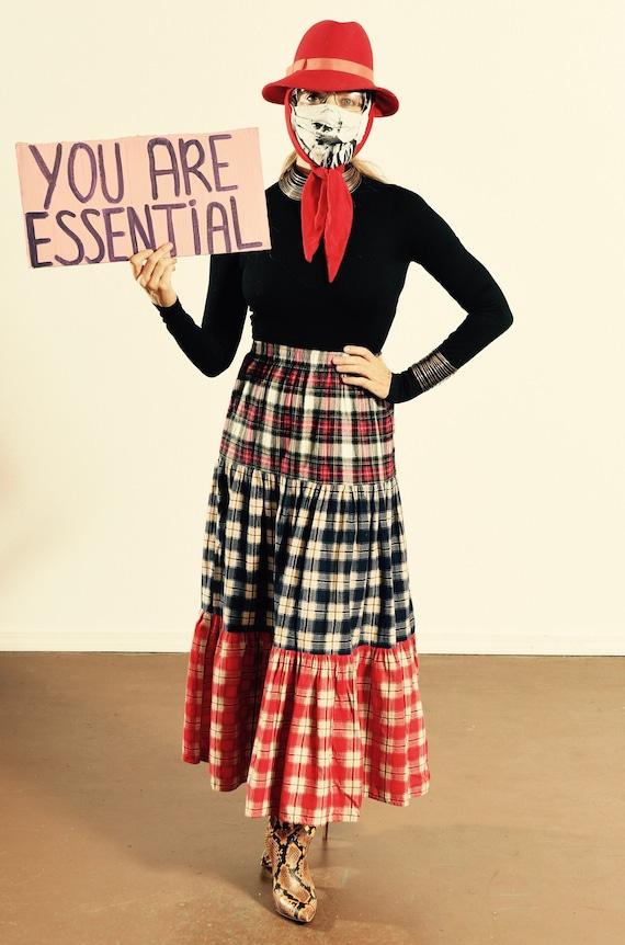 Concepts & Designs/ Flannel Plaid Skirt/ Flannel P