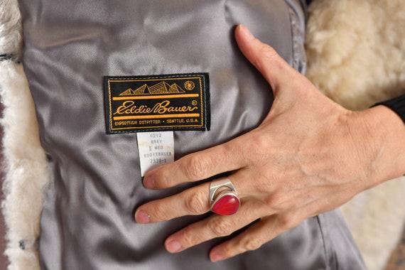 Eddie Bauer/ Vintage Sheepskin Coat/ Vintage Shea… - image 10