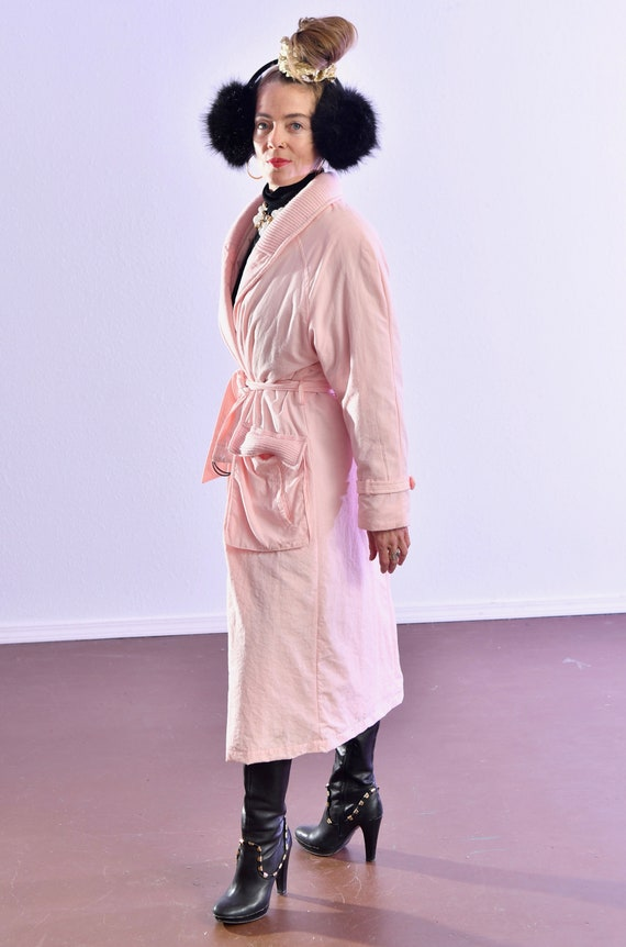 80's puffer coat/ Pink Puffer Coat/ Winter Trench… - image 3