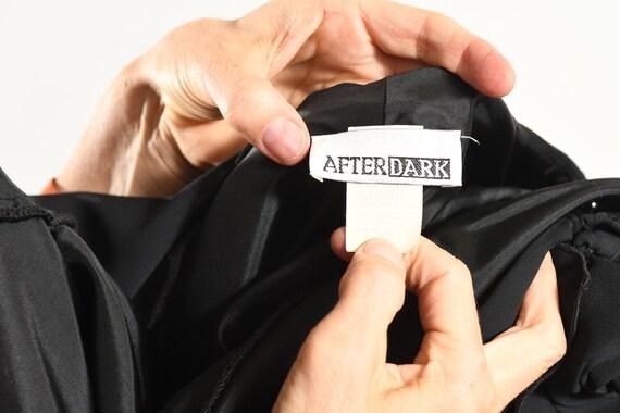 After Dark 80's Dress/ Vintage Black Chiffon Dres… - image 10