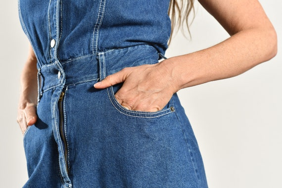 Paris Blues Jean Romper/ 90's Denim Romper/ Vinta… - image 8