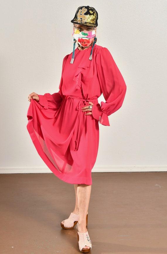 Ayers by E. Eysen/ Pink Chiffon Dress/ Chiffon Se… - image 5