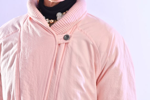 80's puffer coat/ Pink Puffer Coat/ Winter Trench… - image 10