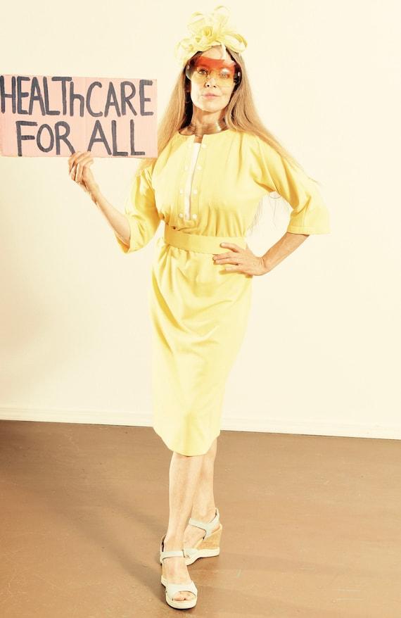 70's Dress/ 70's Cotton Dress/ 70's Tennis Dress/