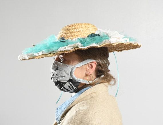 Wide Straw Brim Hat/ Edwardian Straw Hat/ Straw H… - image 6