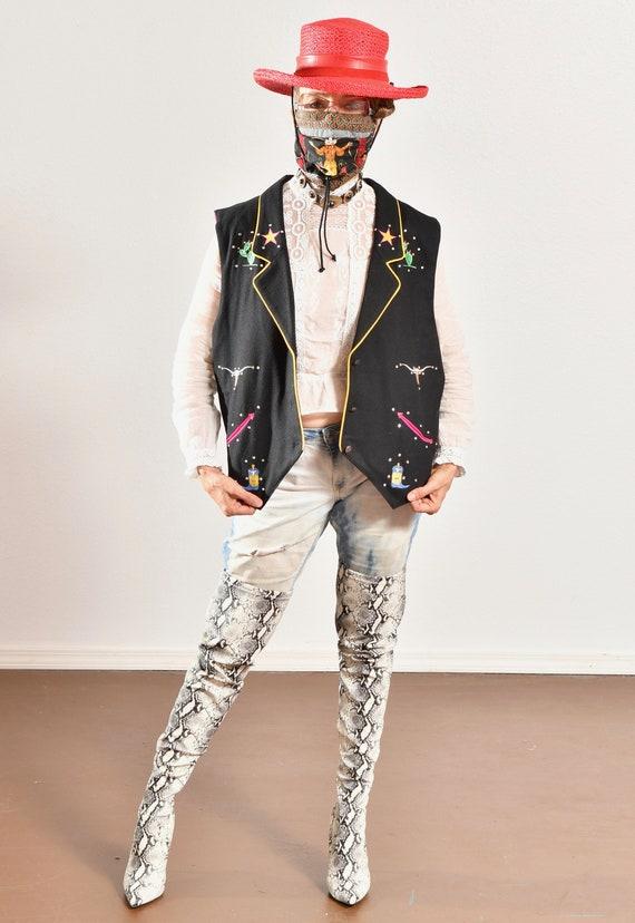 Gerard by Pege/ Wool Western Vest/ Wool Cowboy Ve… - image 2