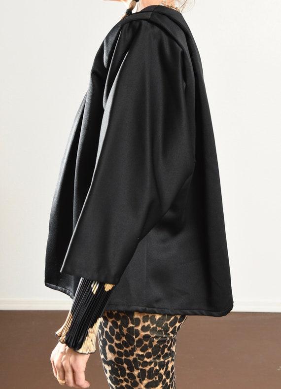 Black Kimono Blazer/ 80's Kimono/ 80's Kimono Jac… - image 6