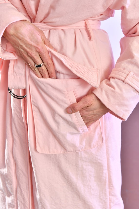 80's puffer coat/ Pink Puffer Coat/ Winter Trench… - image 6