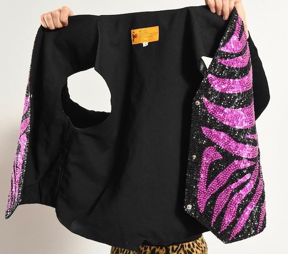 Zebra Print Vest/ Zebra Print Sequin/ Zebra Print… - image 9