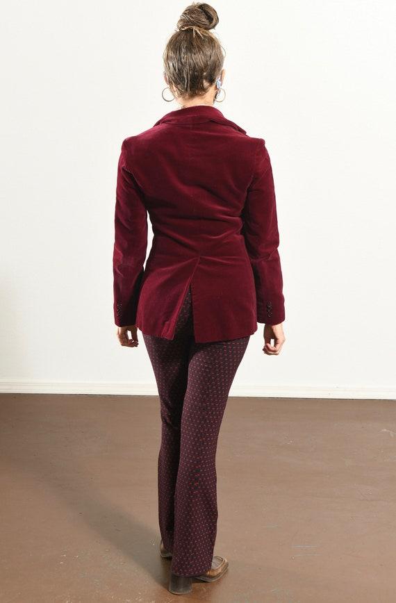 JH Harry's Santa Fe/ Vintage Velvet Blazer/ Burgu… - image 4