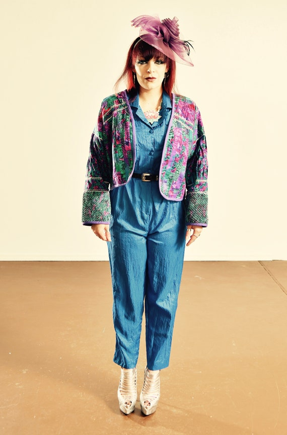 80's Quilted Jacket/ Handmade Quilted Jacket/ Vint