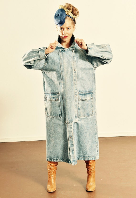 Southwest Denim Duster/ Santa fe Denim Duster/ Cow