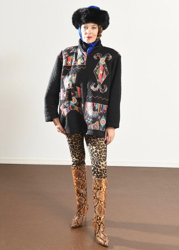 rafael Jacket/ Vintage quilted jacket/ Southwest … - image 2